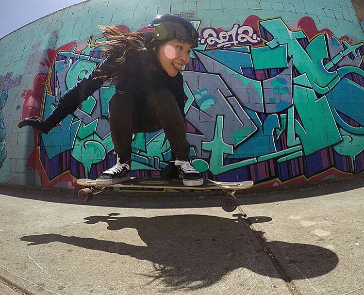 Smile! Enjoy! Skate as you wish! LGC Australia rider @florence.lang flying into the weekend.  Photo cred?  #longboardgirlscrew #womensupportingwomen #skatelikeagirl #smile #lgcaustralia #florencelang