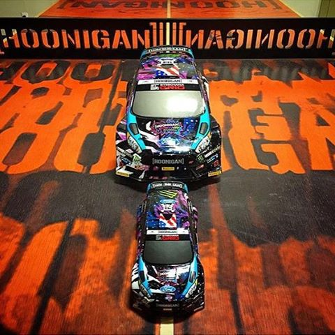 1/18th scale RC car hoonage at your home, office, or anywhere else really - now available through HPI Racing and @TheHoonigans. The Micro RS4 (the smaller car in front of the WR8 Flux) is available now through #HooniganDOTcom, as long as you're logged...