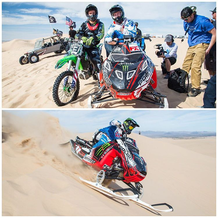 Had the pleasure of watching my buddy, snowmobile legend @PaulThacker11 shred the dunes of Glamis for @MonsterEnergy's #Doonies2 on Thursday. Yep, a snowmobile - in the sand! Paul was paralyzed from the chest-down in an injury a few years ago, but he...