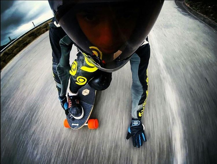 A view from the poor little screaming Ladybug that landed on @frukealves helmet seconds before he rips and grips his way through a fast left at the Brazilian Downhill Championship.  No invertebrates were harmed during the taking of this photo. Ladybug...