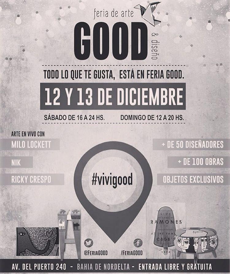 ⚡️Katwai in GOOD⚡️ Encontranos este finde en Good: Feria de Arte & Diseño / Nordelta Hoy hasta las 24hs y mañana de 12 a 20hs