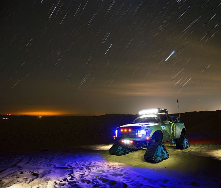 Thanks for the good times, Glamis and Monster! I had an absolutel blast out there in the dunes playing with multiple 4-wheel and 2-wheel vehicles for @MonsterEnergy's #Doonies2 filming. Here's a great shot of #RaptorTRAX from my first night out there,...
