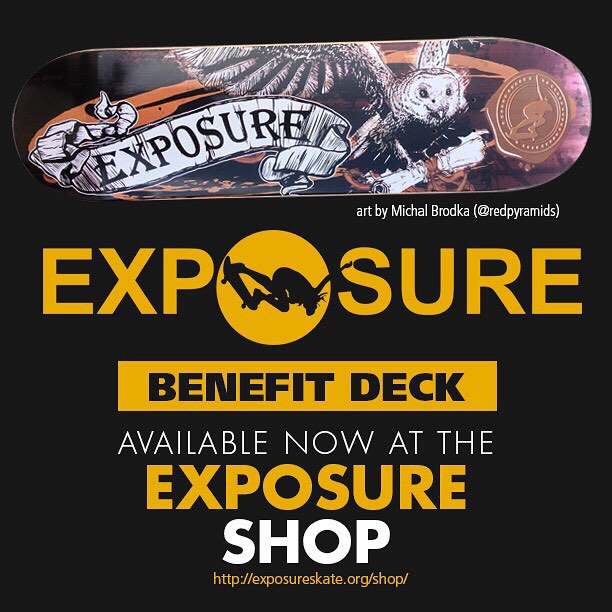 Check out this limited edition EXPOSURE deck designed by Michal Brodka (@redpyramids)! The artistic symbol of knowledge, wisdom, and vision represents the spirit of Exposure. This sick deck is now available at our shop and at @pinkwidowdist! Link in...