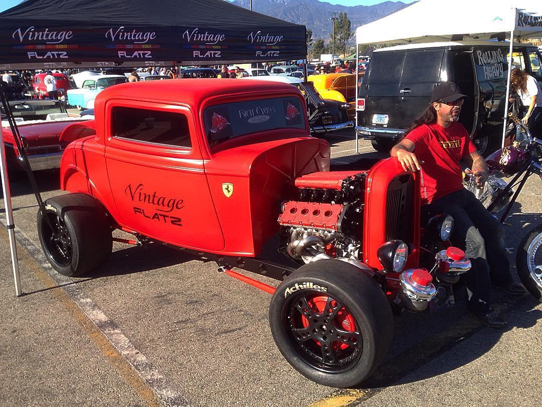 Twin turbo Ferrari powered hot rod. Yay or nay? #mooneyes
