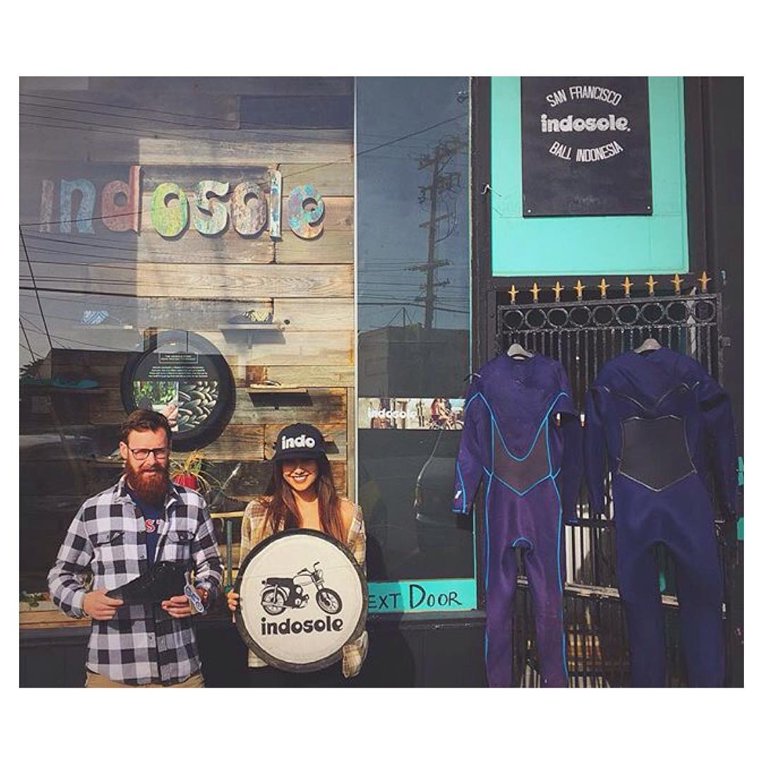 @monicasocal looking good in our Indo trucker hat in front of SF HQ