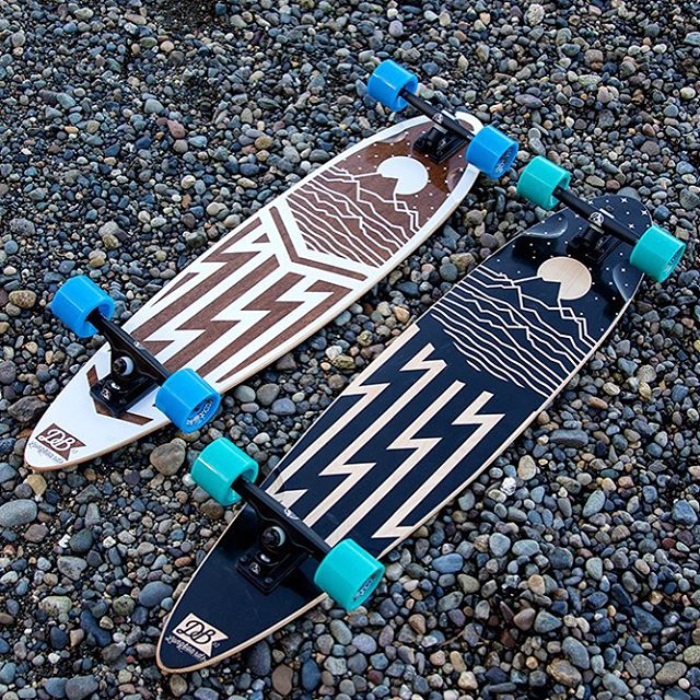 The Cascade Pintail comes in two sizes and are customizable! Tryout our online customizer at DBlongboards.com/build  #dblongboards #longboard #pintail #cascades #longboarding #customlongboard