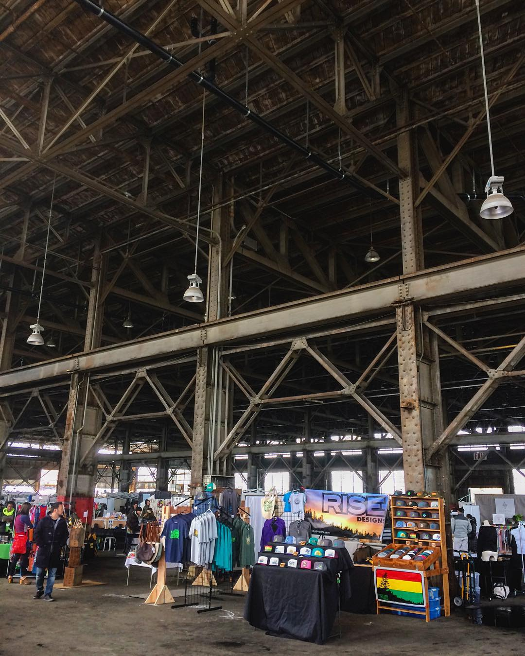 Happy Sunday! We're down in San Francisco at Pier 70 staying nice and dry in this massive warehouse. Come check us out at @urbanairmarket until 5pm today. #risedesigns #urbanairmarket #sanfrancisco #risedesignstahoe