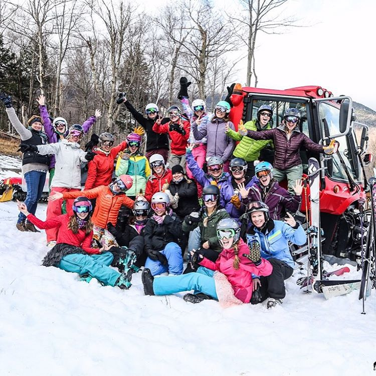 That's stoke! Thanks to @stowemt and the ladies who came out for Saturday's International Women's Ski & Snowboard Day. #iwsd #iamsj #SheJumps