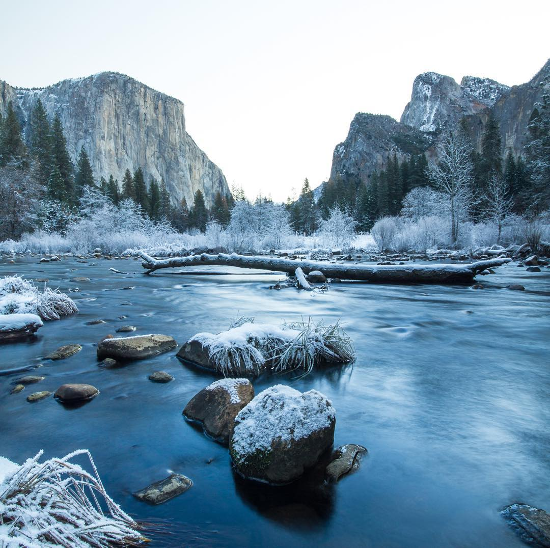 """Seeing Yosemite dusted with snow was probably one of the best birthday presents I've ever received. I'd advise anyone planning a birthday trip to go here, especially if it coincides with a winter storm, haha. Spending time outdoors is good for your..."