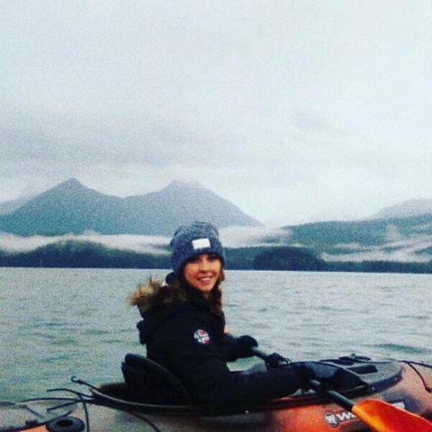 team member @lizfohl out for a paddle in her gdcc beanie