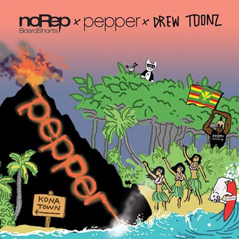 We hope you had a chance to stop by Surfer The Bar last tonight for the Mauli Ola Foundation Concert! Pepper was one of the headlining acts of the night, so we're sure it was epic. If you haven't already, purchase your noRep x @pepperlive x @drewtoonz...