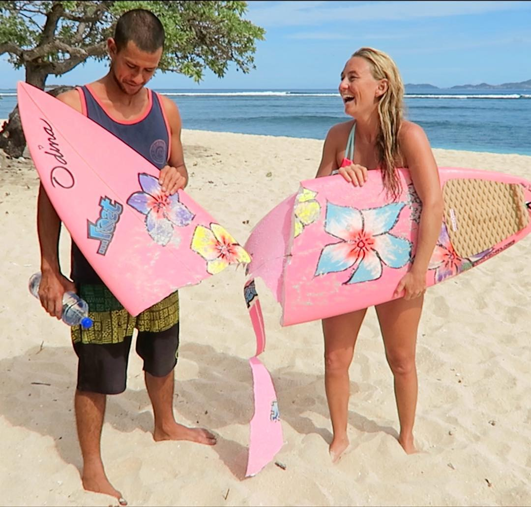 Click the LINK IN MY PROFILE to watch the wild tale/reenactment video of what happened to my pink board