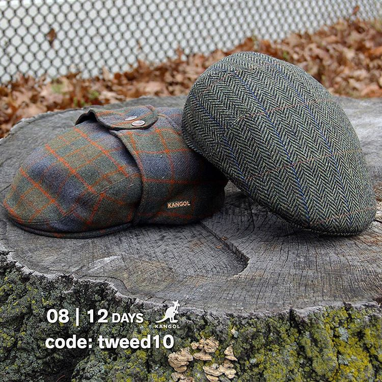 12 Days of Giving: Save 10% on your purchase of our classic tweed headwear when you use the code: tweed10 at kangolstore.com #kangol
