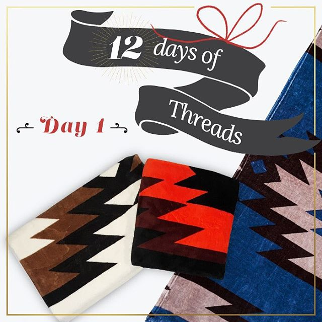 DAY 1⃣- 12 Days of Threads GIVEAWAY- #WIN one of our amazingly soft blankets made out of 40 plastic bottles, in any of the three colors! This is a perfect gift to give someone for the holidays, or a gift for yourself!  Follow @threads4thought and...