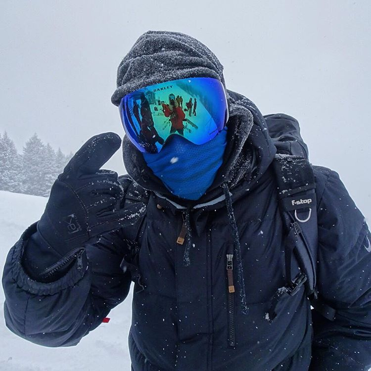 @fischi666 rocking one of our new Mesh Faceshields in the blizzard at @jacksonhole today!  Keep your face warm and toasty while not fogging your goggles! #avalon7 #liveactivated #snowboarding #faceshields  puck one up for Christmas at www.avalon7.co