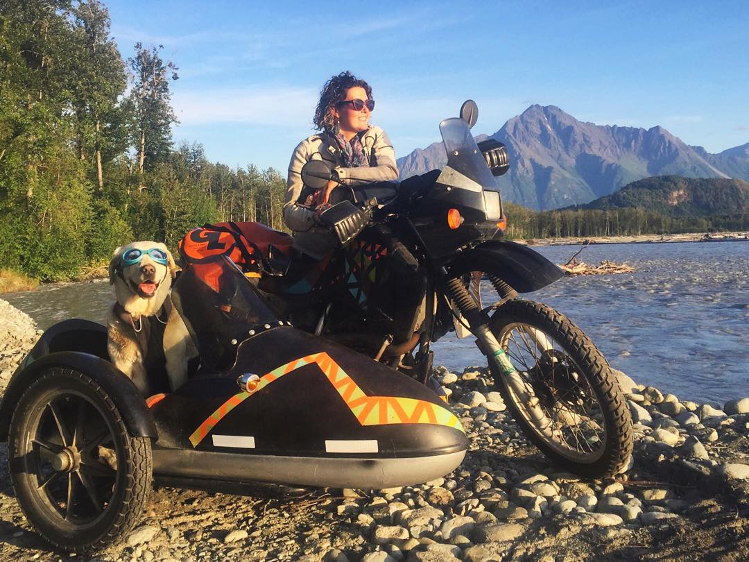 Check out the latest Sunski Lens post on the adventures of @mallorydangerpaige and Motodog! #operationmotodog #baylorthedog