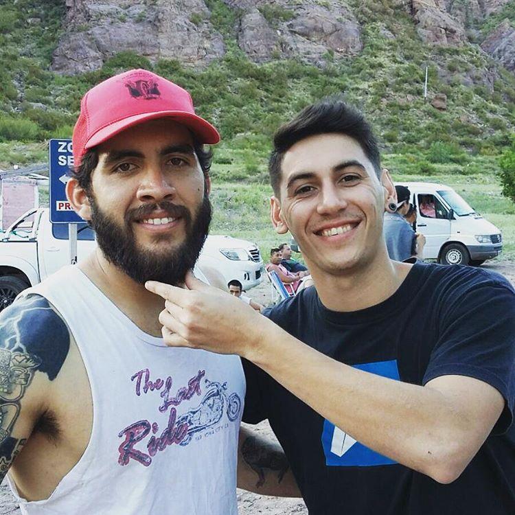 Santi y Claudio del #TeamWika desde Valle Grande, Mendoza... pronto todas las fotos y más sobre este tremendo viaje del #TeamWika #argentina