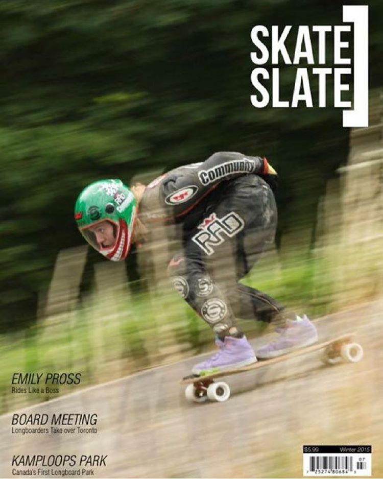 Stoked to see @emilylongboards on the cover of @skateslate!