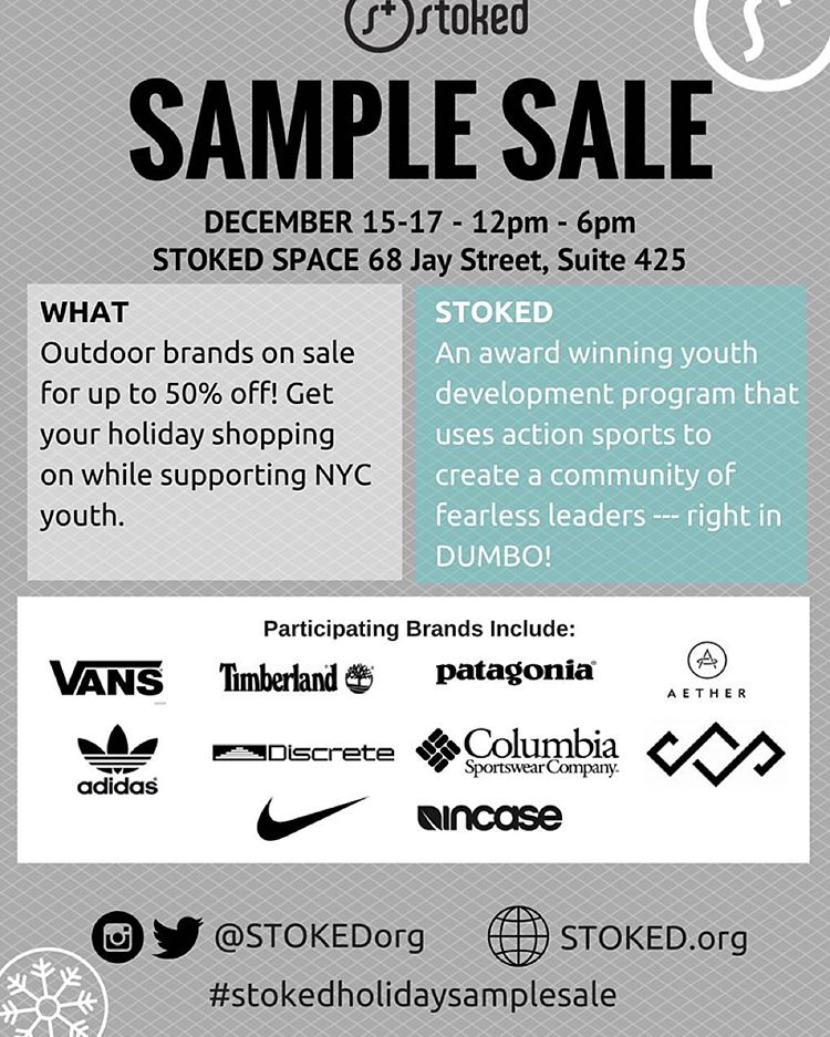 Don't miss our 3 day sample sale! Starts today - come to our DUMBO office and shop for a cause! All details in the link in our bio.
