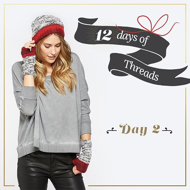 12 days of Threads-  Day 2⃣ #giveaway- #WIN a set of our winter accessories. Perfect for the cold weather coming our way. Don't forget to REPOST this photo, and tag @threads4thought & #12daysofT4T when posting. Winner will be announced here tomorrow...