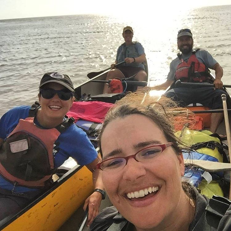 Congrats to the team at On The River! After leaving @glaciernps 160 days and 3,351 miles ago, this gang of ASC adventurers has arrived in the Gulf of Mexico.  #mississippiriver #gulfofmexico #smile #canoeing #river #rivertrip