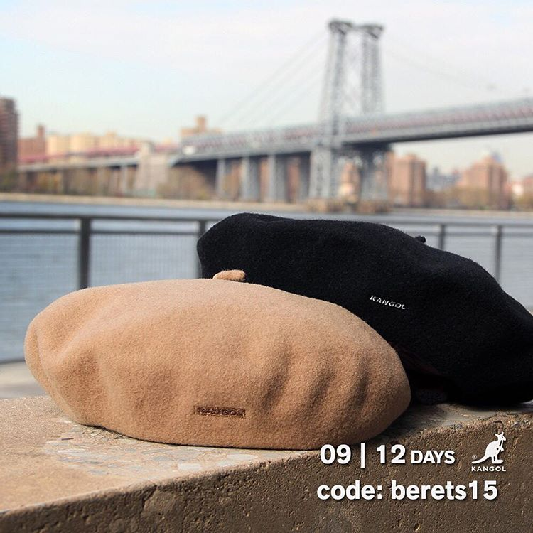 12 Days of Giving | TODAY ONLY! Save 15% on our fashionable berets with the code: berets15 at kangolstore.com #kangol