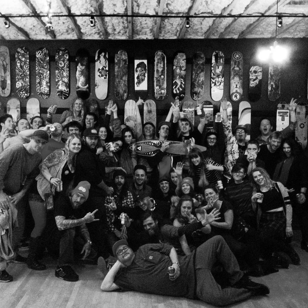 Super stoked on last weeks Deck The Halls skate deck show at @witchdrx in Salem, ma. We sold a ton of decks and raised on $5k with proceeds going to a Christmas toy drive. Thanks to everyone who came, bought or participated. Can't wait for next years!...