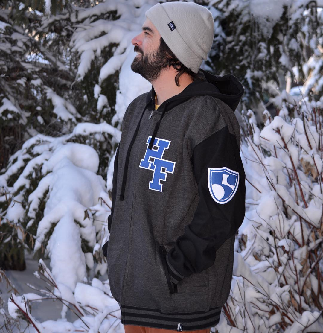 Graduate your style with this custom 'High Fives University Hoodie' and be like @selfiestevewallace!! Available online, link in bio #reppingthe5