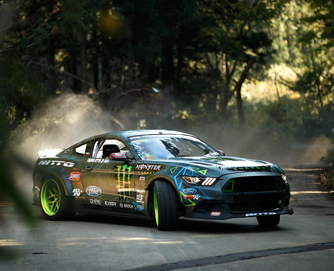 @VaughnGittinJr's Ride • Ford Mustang RTR • 5.0L V8 engine • 550 horsepower  Floor it over to YouTube.com/MonsterEnergy to check out @MonsterEnergy's #BattleDrift!