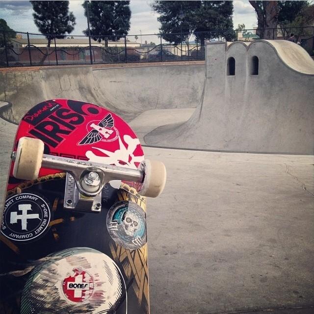 Regram @bradmcclain #skateboarding #osiris #acetrucks #boneswheels #s1helmets #diamondsupplyco #skatepark