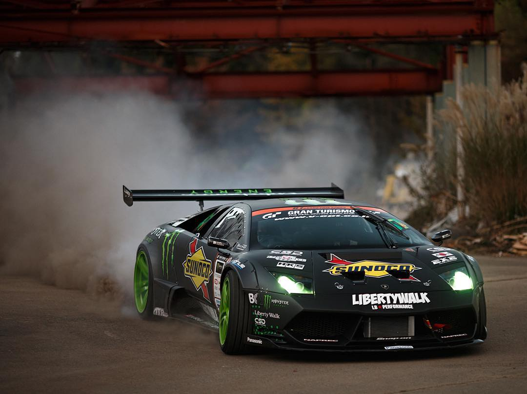 @Daigo_Saito's Ride • Lamborghini Murciélago • 6.2L V12 engine • 650 horsepower  Floor it over to YouTube.com/MonsterEnergy to check out @MonsterEnergy's #BattleDrift!