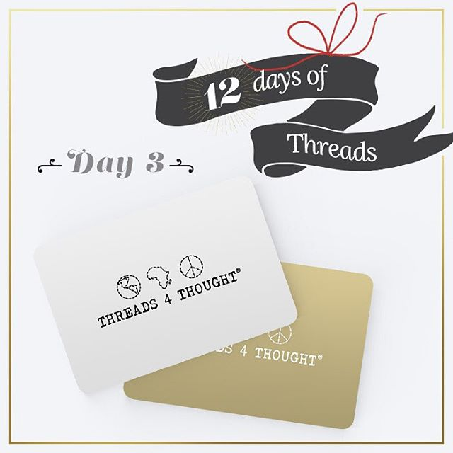 12 Days of Threads- Day 3⃣ #GIVEAWAY! #WIN a $50 gift card to Threadsforthought.com! Follow us on Instagram, REPOST this photo, tagging @threads4thought & #12daysofT4T for a chance to win! Winner will be announced tomorrow morning. #prize #giftcards...