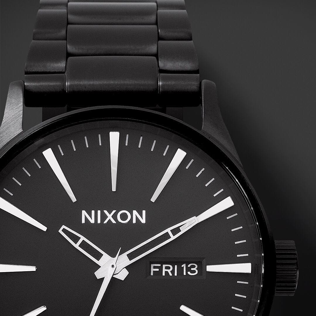 Nixing the status quo of what you may expect when it comes to classically good-looking timepieces, the #Sentry has entered the room and raised the bar. Get to know it and all of our all black watches on Nixon.com's #GetGifting holiday gift guide. #Nixon