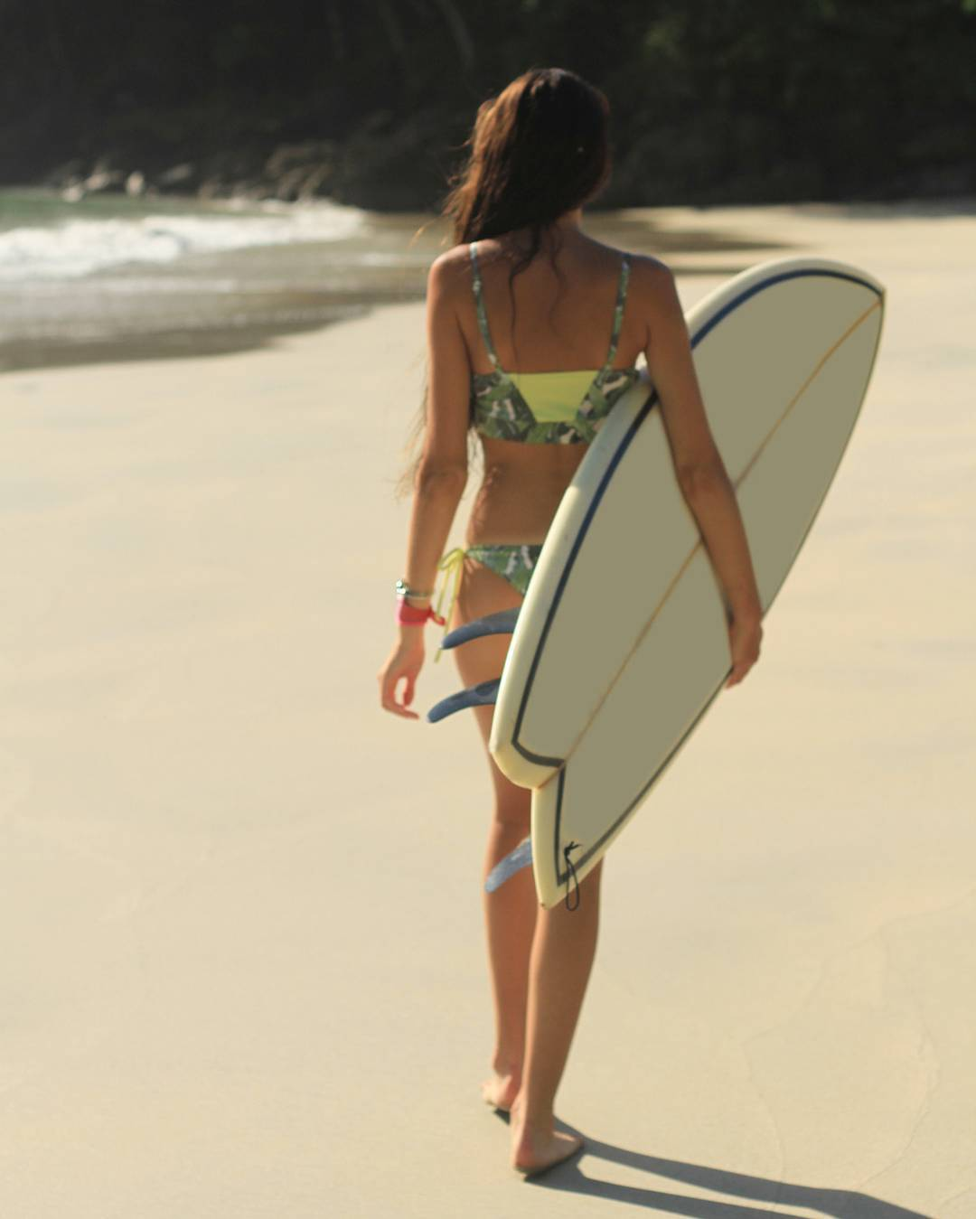 Low tide walks Peahi Bikini in Bananos & Lime Print #katwai #swimwear #surf