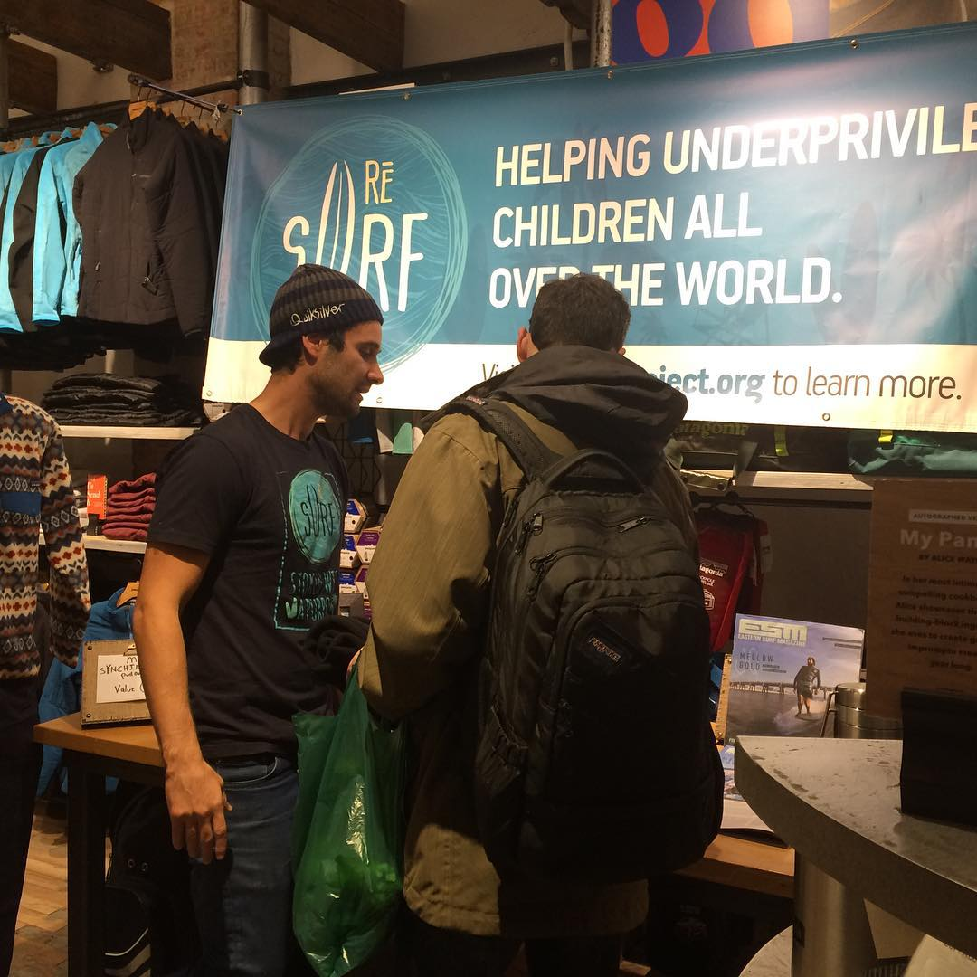 We're kickin it at @patagoniabowery RIGHT NOW nyc!! Come out and chill with us -- free pizza, beers, great vibes and awesome people #surfers #nyc #patagonia #patagoniabowery