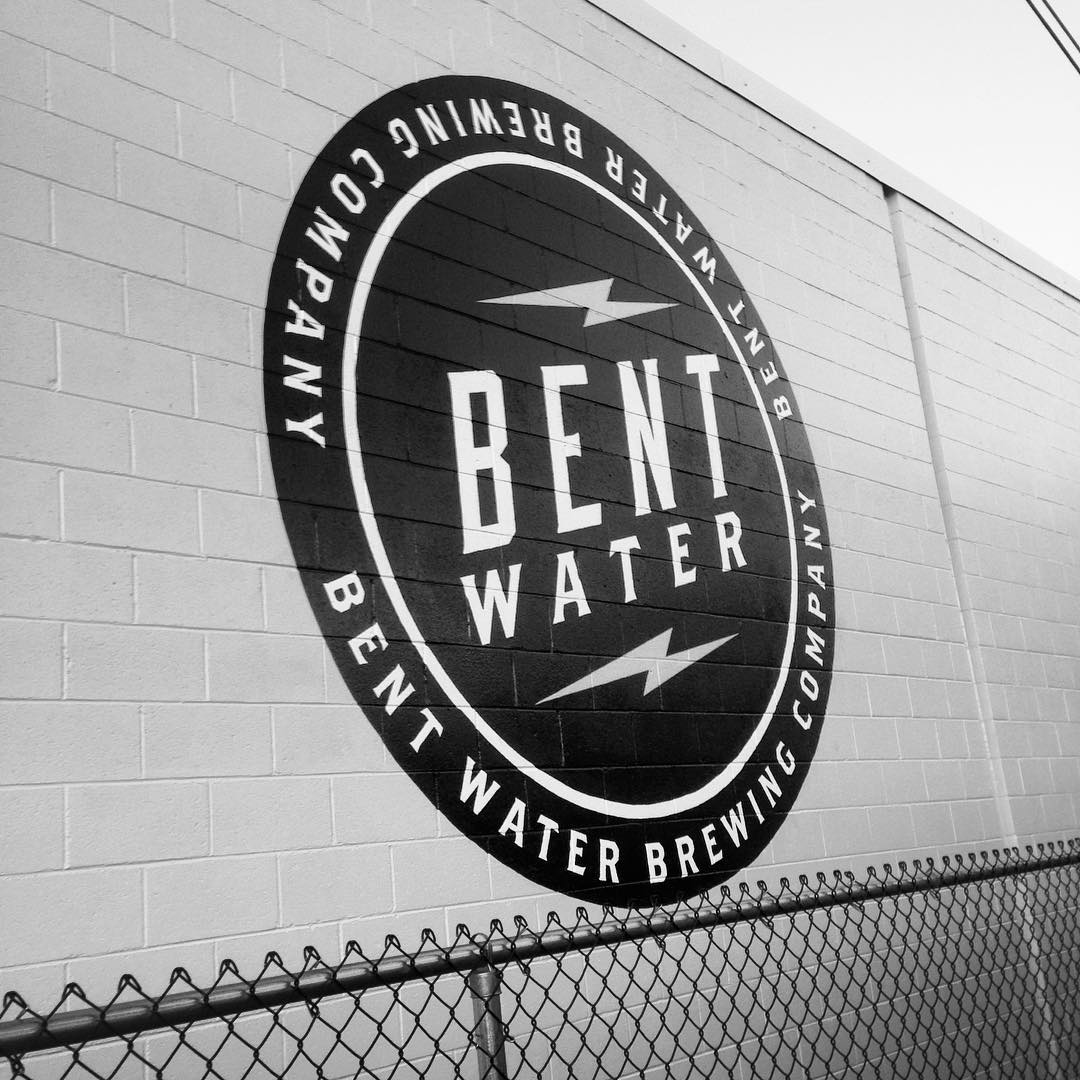 Stoked to wrap up the first phase of this 50 foot wall sign for the new @bentwaterbrewing in Lynn, Ma today with @sj_artconsulting Look for the second phase in spring 2016 and check out Bent Water for some awesome beer in the meantime....