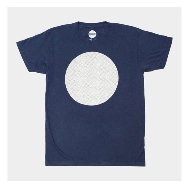 Pattern Circle Tee, navy. #madeincalifornia  only a few left