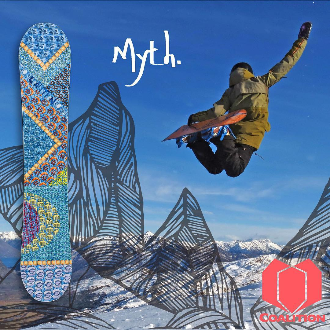 Looking for the perfect new whipstick? The all mountain Myth board floats pow and crushes crud, making it the perfect  trustworthy ride.  Ambassador @cayleyalger shows us what flying looks like!