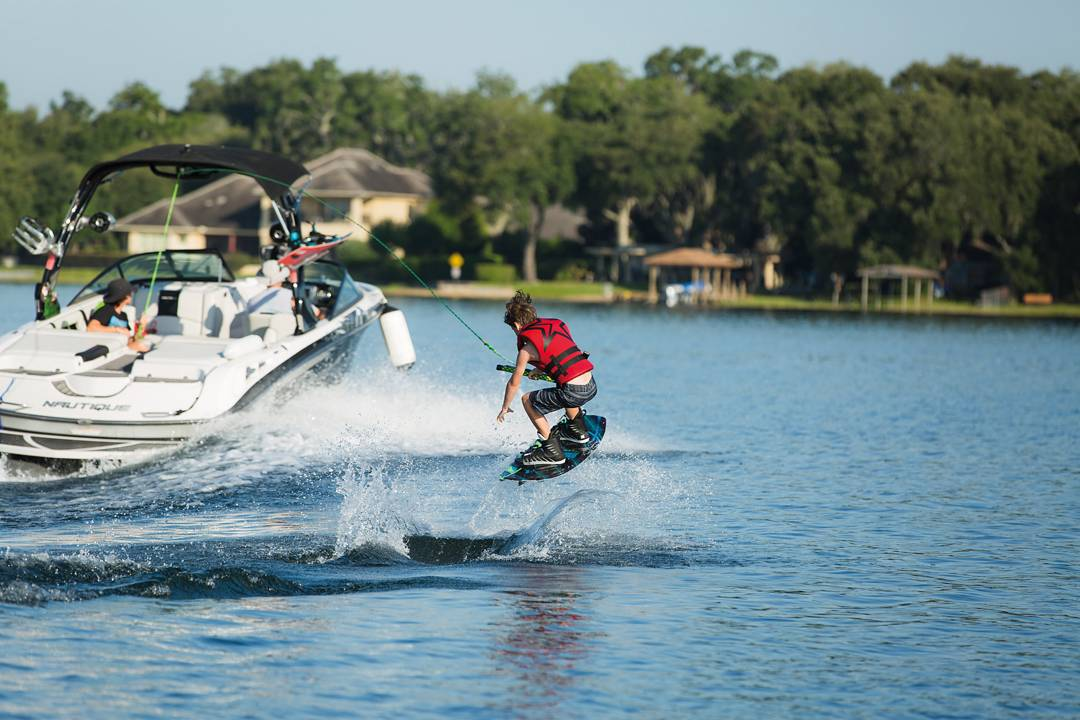 We try to get everyone on the water. The Terra boating board is designed for the younger shredders who are more experienced and want to ride a pro board instead of a beginners!