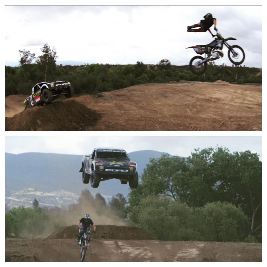 #TBT to jumping my @fordperformance #pro2 with @jackostrong for filming the #headstrong movie