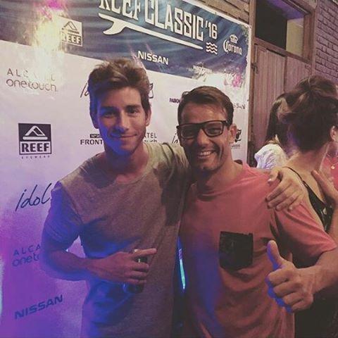 @mpasseri1 y @vicdalee estuvieron presentes en el evento de apertura del #AlcatelReefClassic16