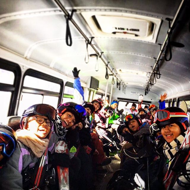 Summit county Learn to Ride youth getting #stoked on the way to the slopes! ✌