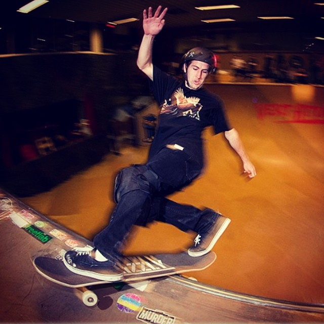 @bradmcclain #frontsideslide androll in #sweden. #vertattack #skatephoto by Pete Furnee