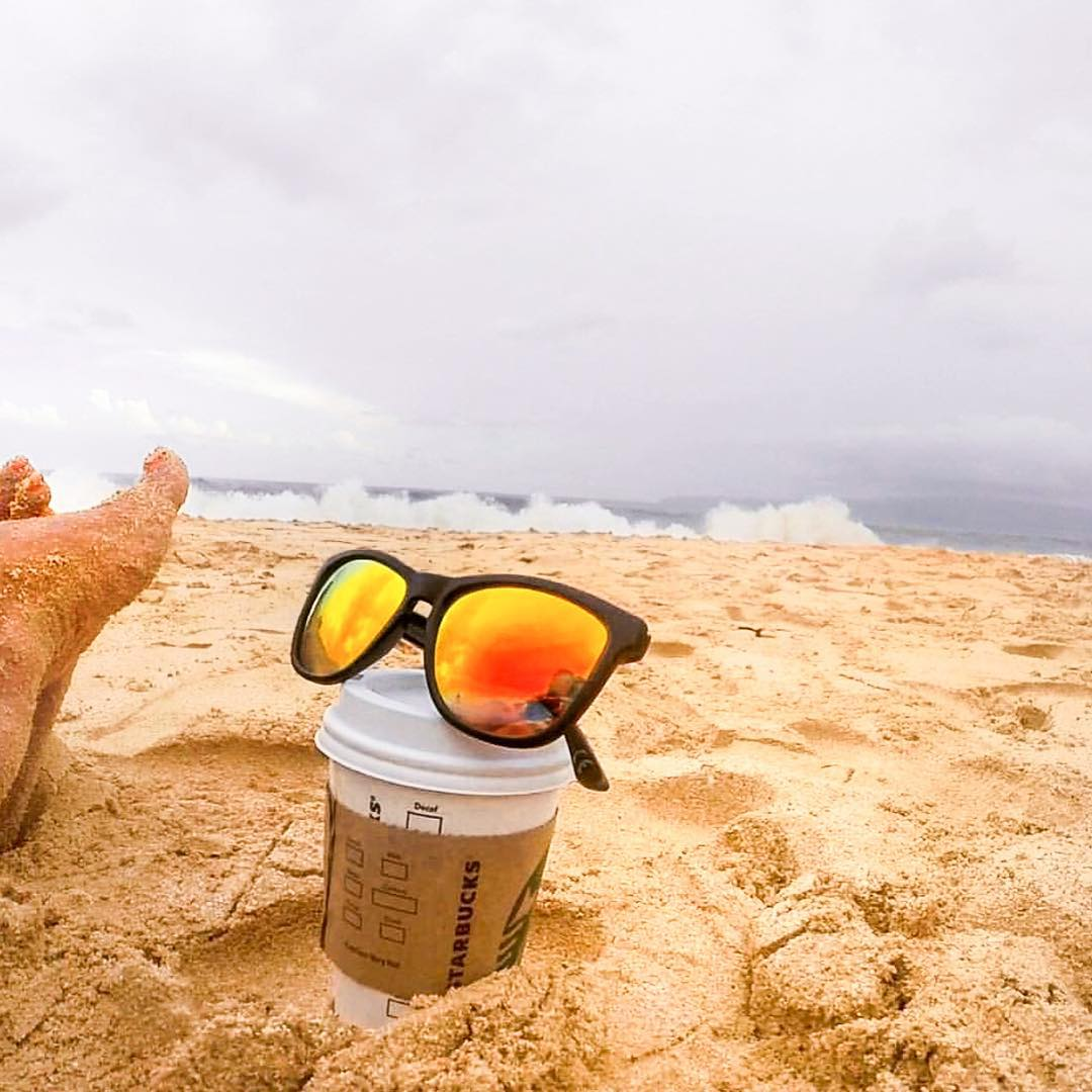 Sand, Starbucks, Star Wars, Sunglasses  #Kameleonz #Christmas #LifesABeach #EnjoyTheRide