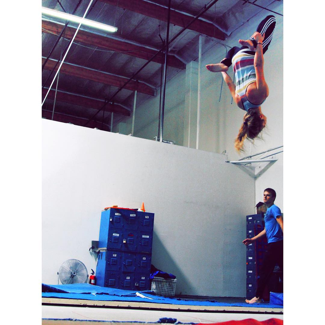 Playing with some different backflips #parkour #freerunning #parkourgirl #girlparkour #backflip #squirrel #squirrelbackflip #trampoline #actionsports #graceflix