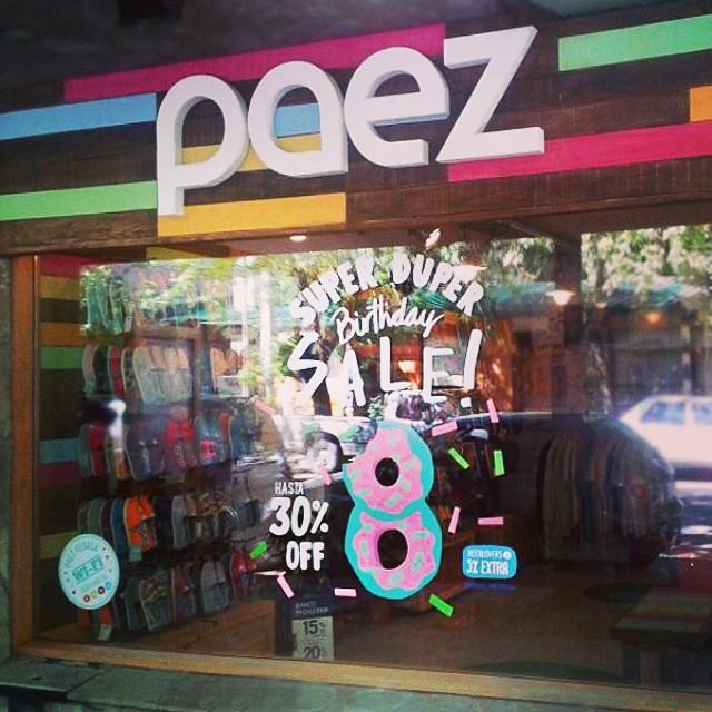 Happy Birthday PAEZ !!! Durante el mes de marzo 30% OFF en todos los Paez Stores de Argentina. #paezstores #paezSanMartin #paezBday #sale #Argentina