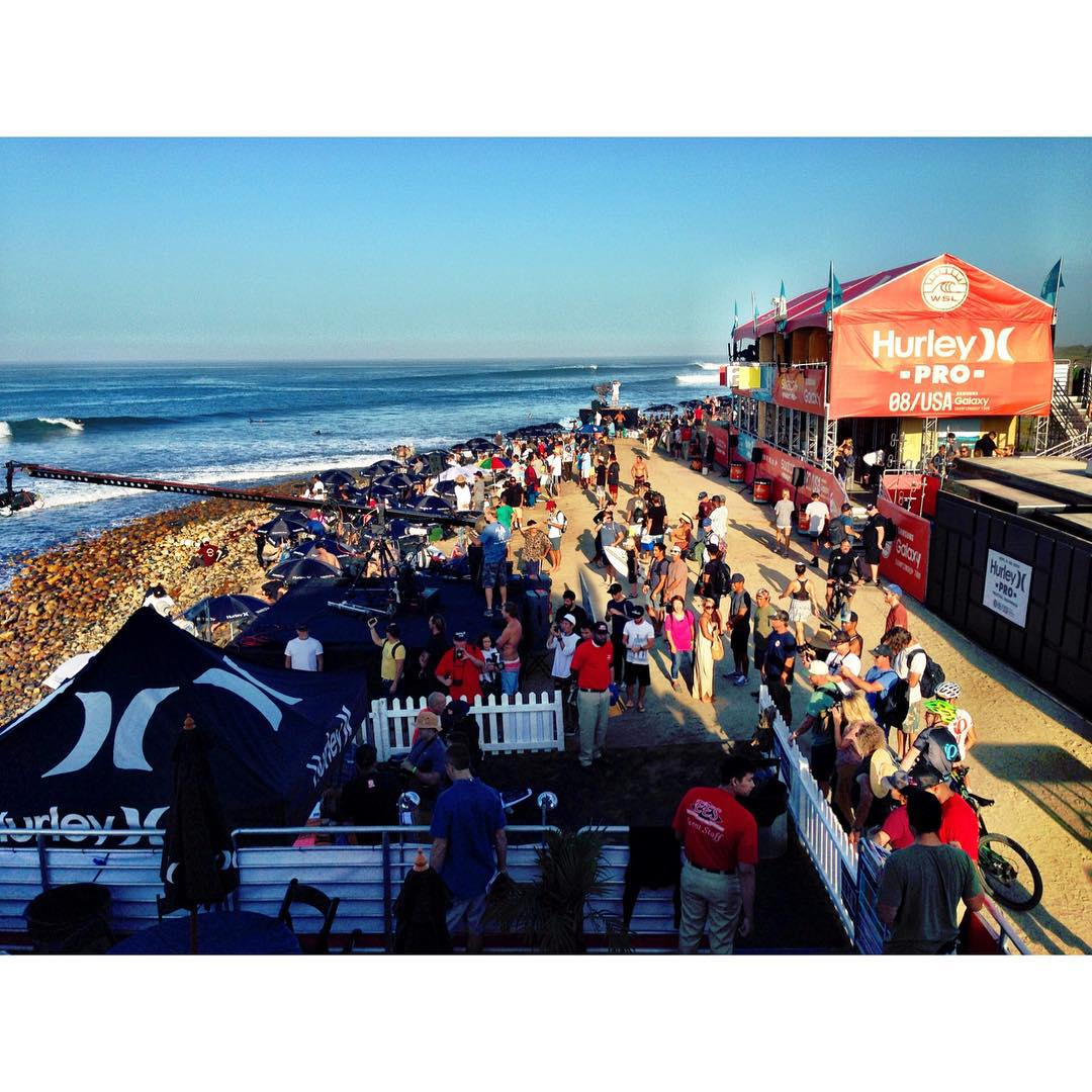 Welcome to Day 1 at the Hurley Pro! Mens 1st heat with @kellyslater @jadsonandreoficial @dusty_payne starting now! @wsl #hurleypro #hurleyprotrestles #surf #surfing #pro #vip #production #gopro #hurley #swatch #trestles #graceflix