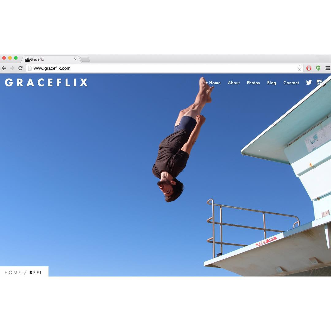 New website is up! Mobile version is also accessible. Action sports, events, photography, videos, etc. www.graceflix.com #website #actionsports #parkour #freerunning #photography #videography #flips #losangeles #beach #freelance #extremesports #graceflix