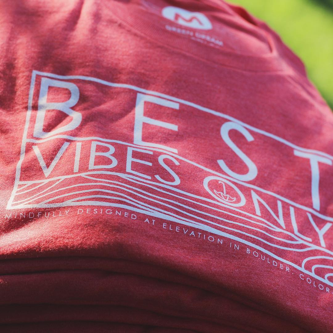 throwback BEST VIBES ONLY tees, who still needs one?