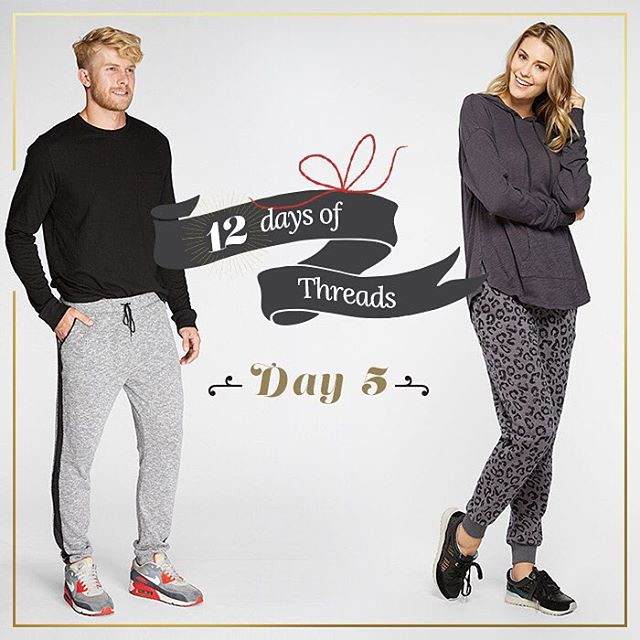12 Days of Threads- Day 5⃣- #Giveaway. 2⃣ WINNERS!! #WIN a pair of our men's or women's sweatpants. We will announce 2 winners for this prize! Follow us on Instagram, REPOST this photo tagging @threads4thought & #12daysofT4T. Both winners will be...